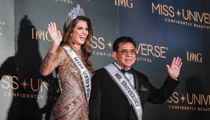 Miss Universe 2017 victor is in Manila
