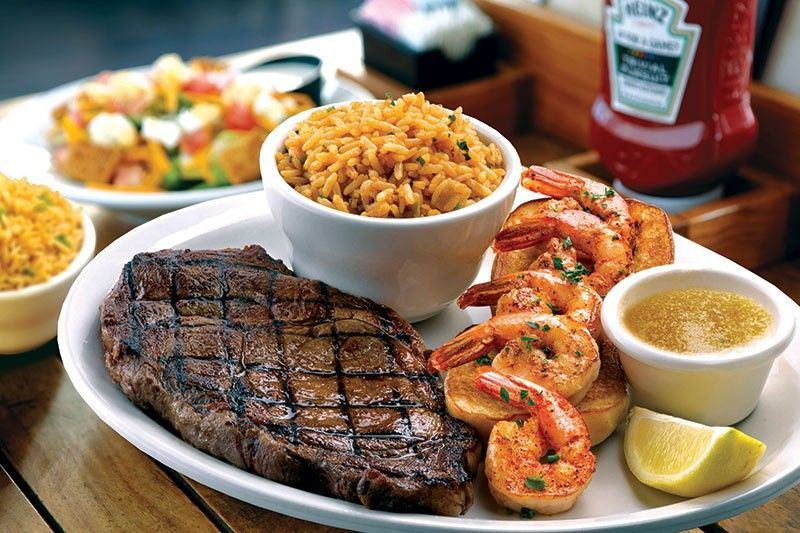 Ribeye with Shrimp at Texas Roadhouse Grill