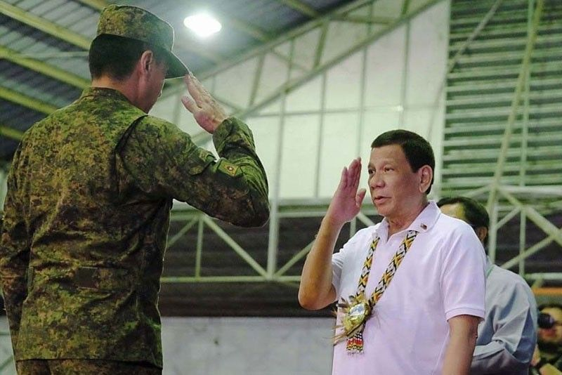 AFP chief welcomes Duterte's trust