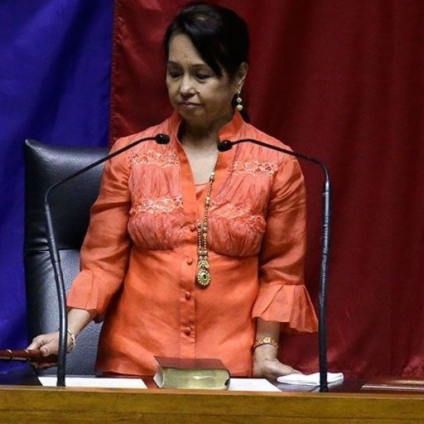 File photo shows former House Speaker Gloria Macapagal-Arroyo during a House session.