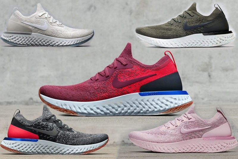 Nike Epic React Flyknit colorways, including Pink Matcha, an off-white  Alloy (for women) and Horizon (glowing red for women and a dark gray for  men) are now ...