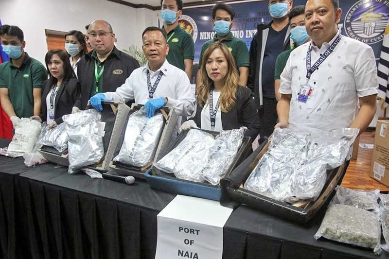 p133 6 million drugs seized at naia. Black Bedroom Furniture Sets. Home Design Ideas