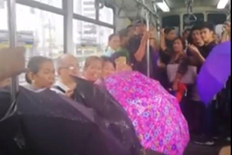 MRT apologizes for leak in train