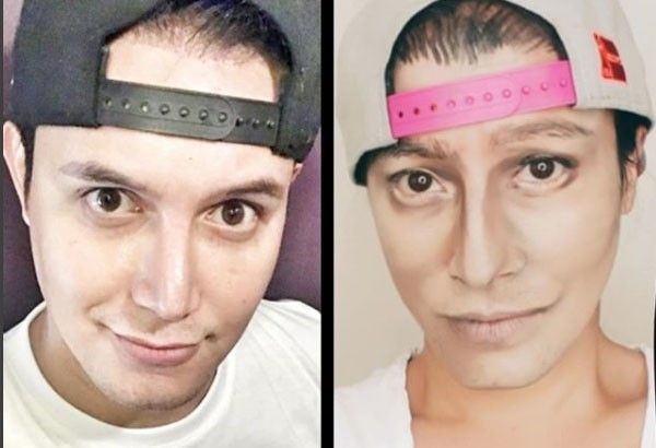 solenn heussaff s makeup transformation into paolo ballesteros gets