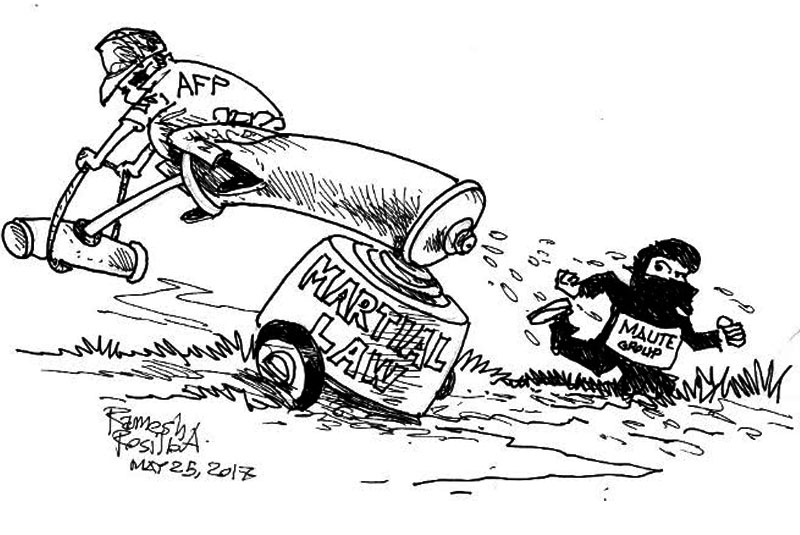 EDITORIAL - Martial law. You asked for it, you got it