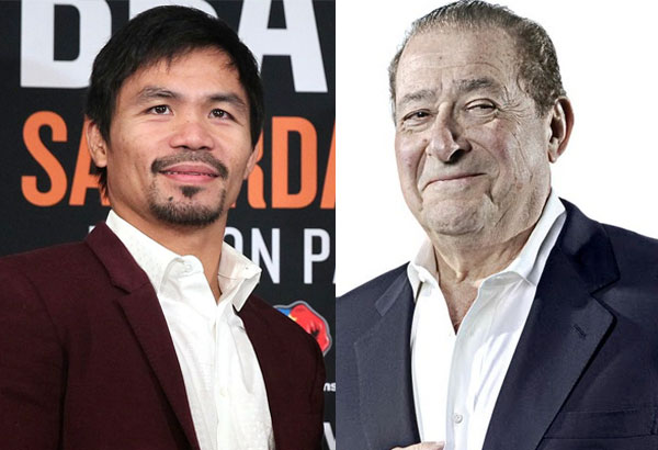 Manny Pacquiao and his promoter Bob Arum