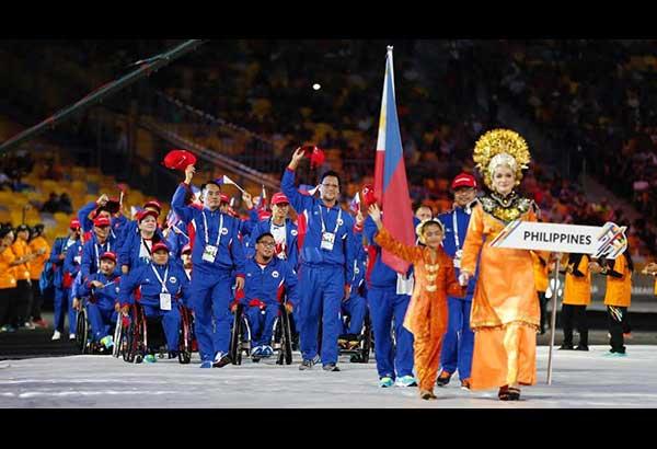 Ang Philippine delegation sa parade of teams. PARA Games photo