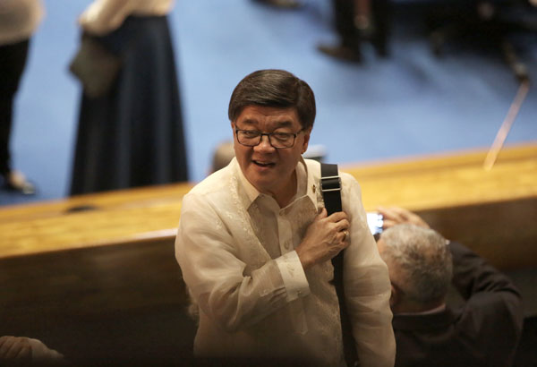 House Speaker Pantaleon Alvarez said Justice Secretary Vitaliano Aguirre is fit to become a senator. Philstar.com/AJ Bolando, File photo