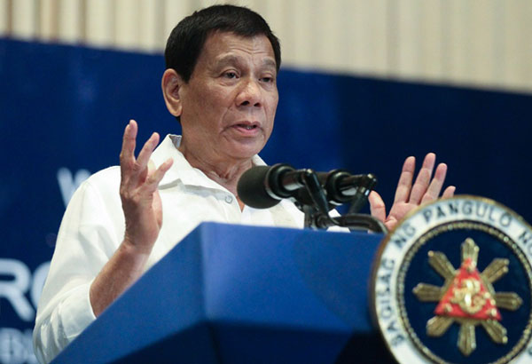 President Rodrigo Duterte, in his speech during the Anti-Corruption Summit 2017: 'Breaking Chains of Corruption 2017' at the Philippine International Convention Center in Pasay City on November 28, 2017, cites how the Constitution has allowed corrupt individuals to escape accountability. Ruji Abat/Presidential Photo