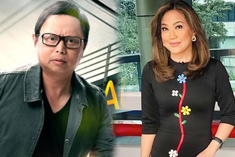 Arnold Clavio at Ms. Karen Davila
