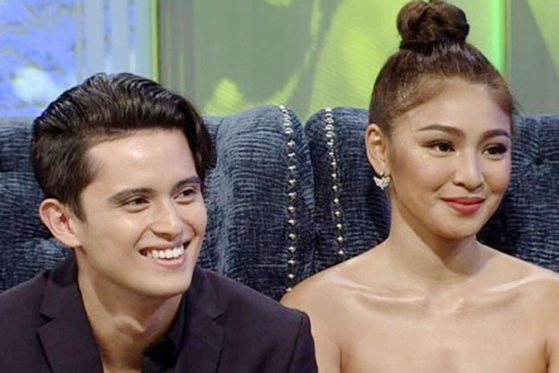 James Reid at Nadine Lustre