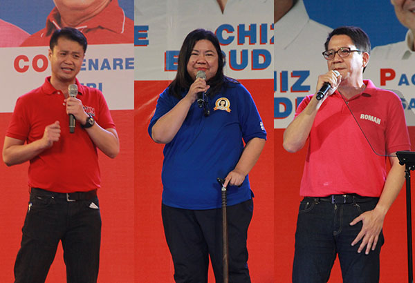 Valenzuela Rep. Sherwin Gatchalian, OFW rights advocate Susan Ople and Pasig Rep. Romulo are all part of the senatorial slate of Partido Galing at Puso. Philstar.com/Jonathan Asuncion, file