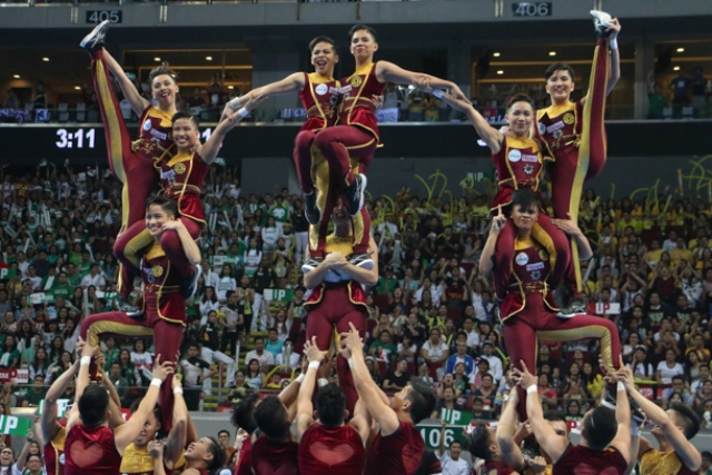 IN PHOTOS: Pep squads showcase best pyramids at UAAP Cheerdance