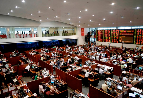 The benchmark Philippine Stock Exchange index (PSEi) lost 31.49 points, or 0.39 percent, to finish at 7,886.37 while the broader All Shares declined 10.45 points, or 0.22 percent, to settle at 4,708.79. File