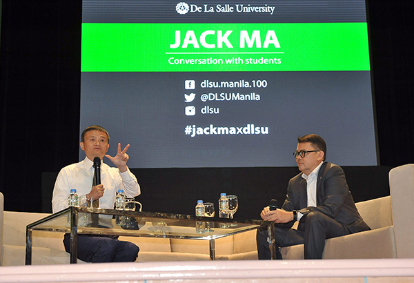 Jack Ma shared his insights on Money, Market, and Mentorship during the segment moderated by PA Joey Concepcion.
