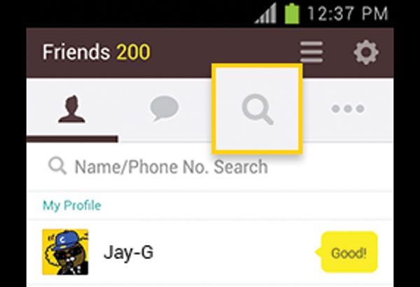 Find Phone Kakaotalk Friends Number By