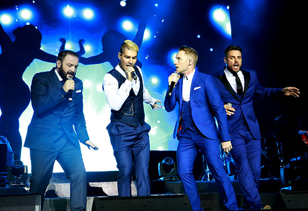 "Boyzone celebrated their 20th year in the industry through the ""BZ 20 Tour,"" with Manila as one of their stops. Philstar.com/ Jonathan Asuncion"