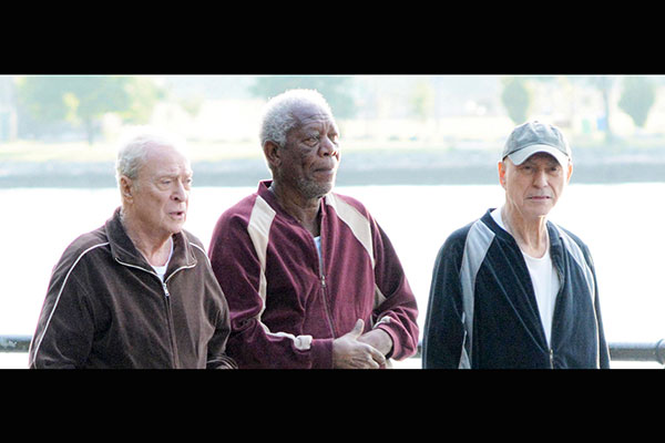 Wallpaper Going In Style Morgan Freeman Alan Arkin: Morgan Freeman, Michael Caine, Alan Arkin Star In 'Going
