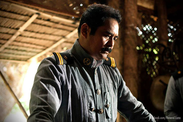 "John Arcilla stars in the historical film ""Heneral Luna,"" which will open in theaters on September 9. Faceboook/Heneral Luna page"