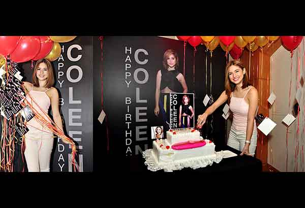 Coleen at the surprise birthday party hosted for her by Swatch lady boss Virgie Ramos