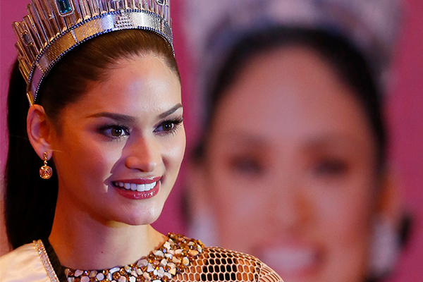 """A Facebook post with announcement thatMiss Universe 2015PiaWurtzbach is the newest host of""""Asia's Next Top Model"""" circulated online.AP/Bullit Marquez"""
