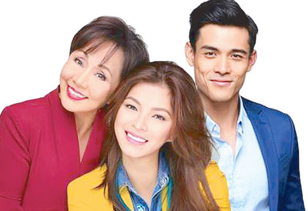 Vilma Santos with co-stars Angel Locsin and Xian Lim. A moving family drama simply told.