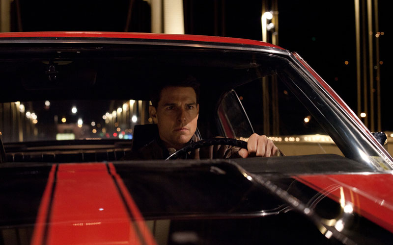 "Tom Cruise is back to reprise his role as Jack Reacher in the film ""Jack Reacher: Never Go Back."""
