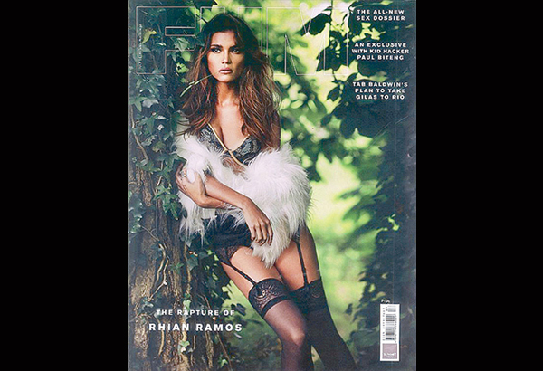 Rhian Ramos on the cover of FHM magazine