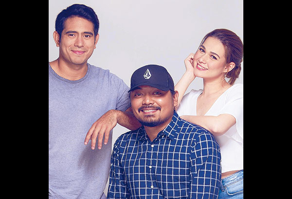 Direk Dan with Gerald Anderson and Bea Alonzo. He is a character-driven director, not a story-driven one.