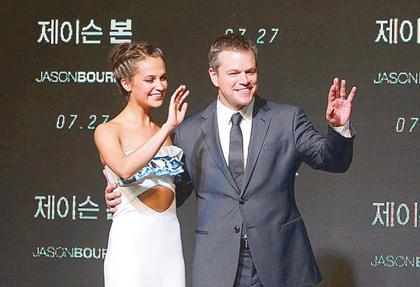 Alicia Vikander on Matt Damon: When he walked into the set hiding his head under a cap, I was totally starstruck. I became a fan of Matt's after I saw him in Good Will Hunting.
