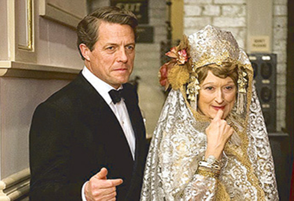 Stars Hugh Grant and Meryl Streep in a scene from the period film