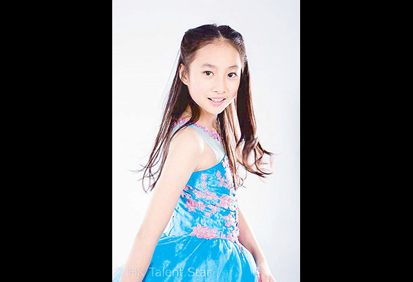 The nine-year-old half-Pinay and half-Chinese is a total performer