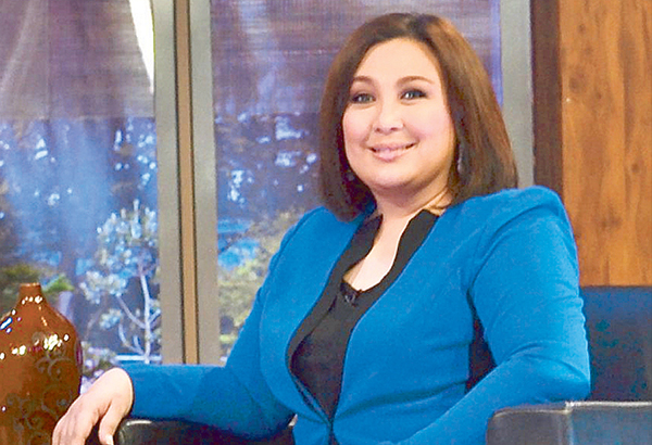 Sharon Cuneta, who's set to return to the concert scene come Oct. 15 and 22 at The Theatre of Solaire Resort & Casino, laughs off her inclusion in the list of artists who performed at the national penitentiary —Photo by VER PAULINO
