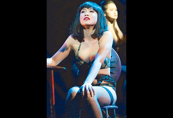 Rachelle Ann Go as bar girl Gigi in Miss Saigon, the London West End musical she performed in before she took the role of Fantine in Les Miserables