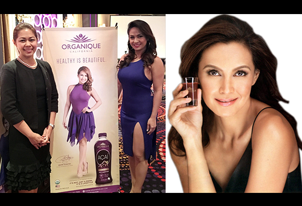 Both health advocates, endorsers Supermodel Tweetie de Leon-Gonzalez (right) and Dance Diva Regine Tolentino (left, with Organique Acai owner Cathy Salimbangon) claim that the product keeps them active and productive