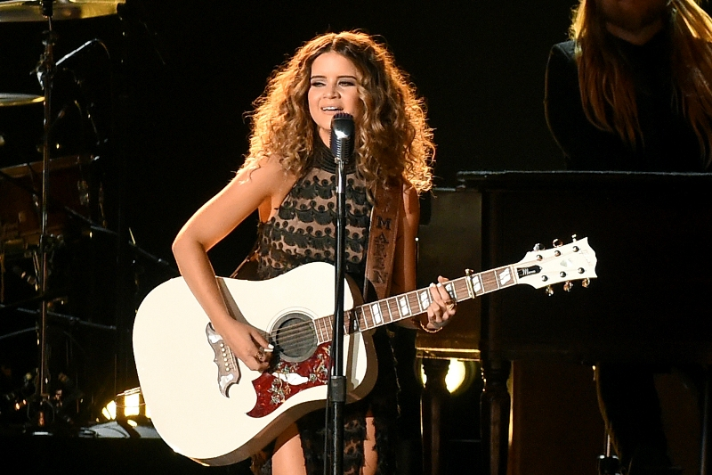 "FILE - This Nov. 2, 2016, file photo shows Maren Morris performing ""My Church"" at the 50th annual CMA Awards in Nashville, Tenn. Morris scored four nominations, announced Tuesday, Dec. 6, including best new artist. Photo by Charles Sykes/Invision/AP, File"