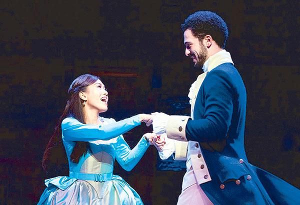 Rachelle Ann Go and Jamael Westman as Eliza and Alexander Hamilton. —Photos by Matthew Murphy