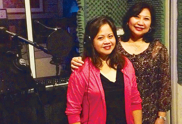 Multi-awarded songwriter Cecile Azarcon (right) and Suzanne Lansangan-Sabangan.