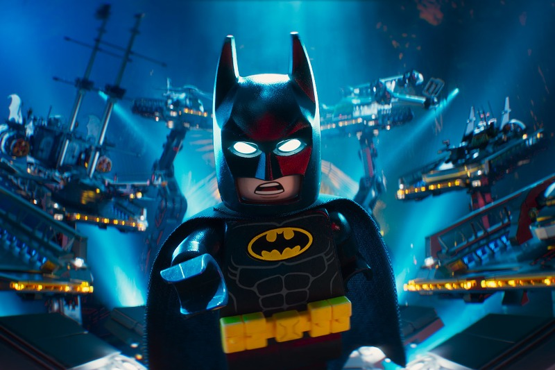 """This image released by Warner Bros. Pictures shows Batman, voiced by Will Arnett, in a scene from """"The LEGO Batman Movie."""" Warner Bros. Pictures via AP"""