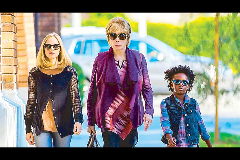 From left: Amanda Seyfried, Shirley MacLaine and Ann Jewel Lee Dixon in The Last Word.