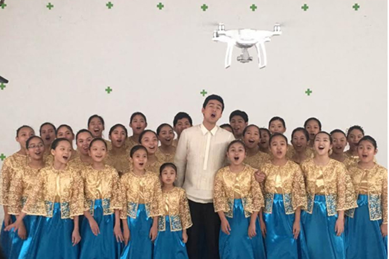 International artist Christian Bautista, 2012 ASEAN Youth Achievement award recipient, and the Hail Mary the Queen Children's Choir of Quezon City.