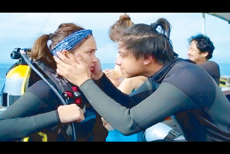 Daniel Padilla and Kathryn Bernardo in a scene from the movie. Their acting is far from excellent but their sense of spontaneity gives them the highest edge to be considered good actors in the making.