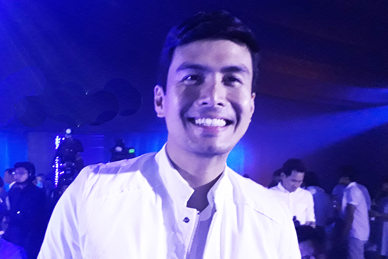 International artist Christian Bautista at the launch of Samsung S8 last night, April 27. Philstar.com/Deni Rose M. Afinidad-Bernardo