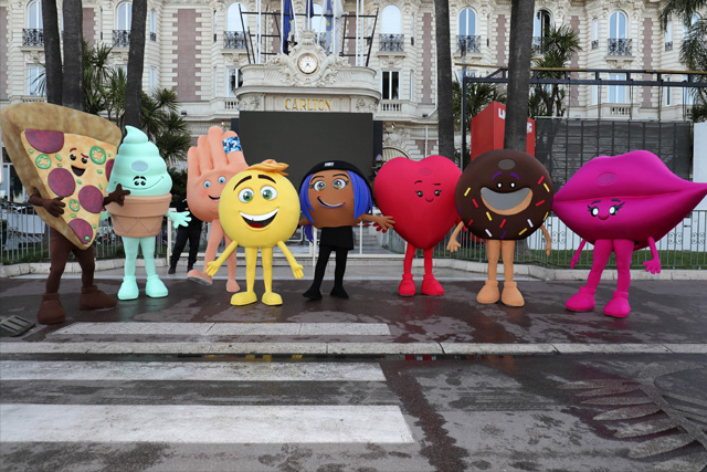 """The Emoji Movie"" saluted the 70th Cannes Film Festival on Wednesday, May 17, 2017. Sony Pictures"