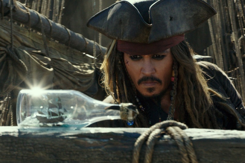 """Johny Depp returns as Captain Jack Sparrow in Walt Disney Pictures' """"Pirates of the Caribbean: Salazar's Revenge.""""Walt Disney Pictures/Released"""