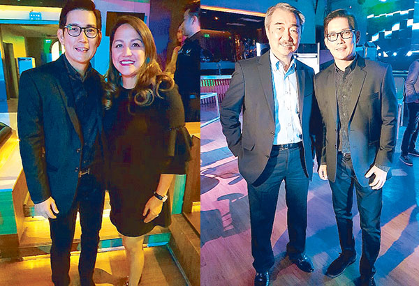Richard 'Ser Chief' Yap with wife Melody and SM's Hans Sy (far right) during the blessing of Cole & Ash International Systems Corporation