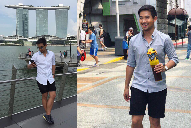 """Ken Chan, star of theKapusokilig-serye, """"Meant To Be,"""" shared some of his personal photos shot in Singapore.Photos by Ken Chan"""