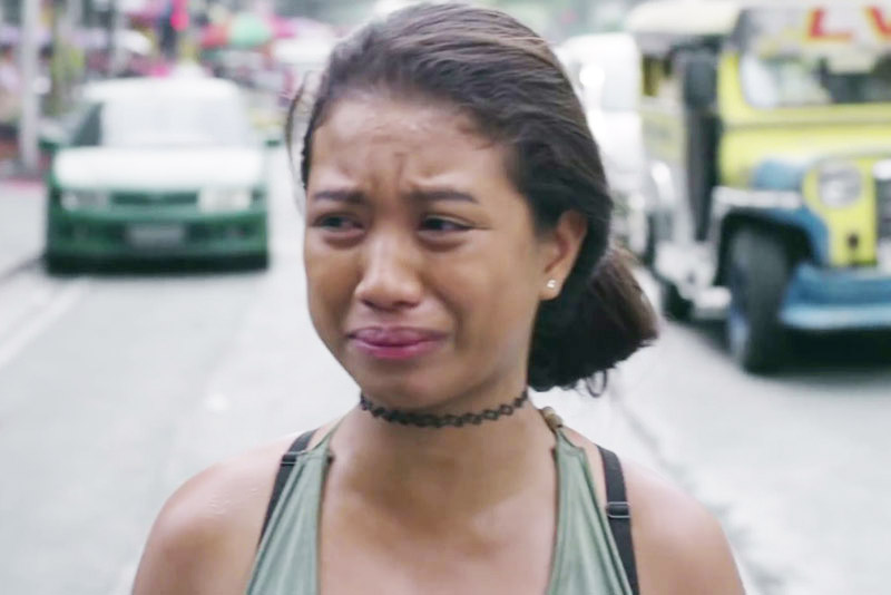 "This scene from Eduardo Roy Jr.'s ""Pamilya Ordinaryo"" shows lead actress Hasmine Killip as a teen street urchin looking for her lost baby."