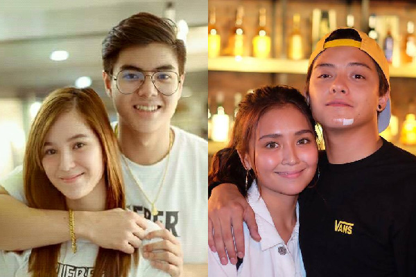 Team PaulBie: Paul Salas and Barbie Imperial (left) and Team KathNiel: Kathryn Bernardo and Daniel Padilla (right). Photos from fans' social media sites