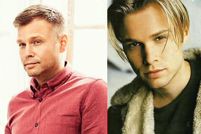Christian Ingebrigtsen now (left) and in the '90s (right) as member of hit boyband A1.